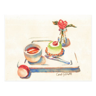 Carte Postale Aquarelle de Paris Macaron