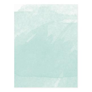 Carte Postale Aquarelle peignant la menthe bleue de Teal