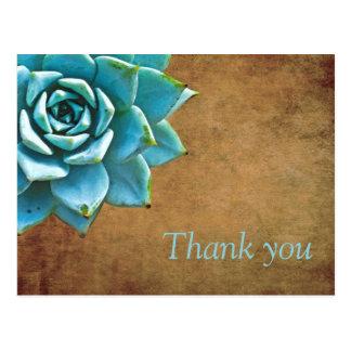 Carte Postale Aquarelle succulente Brown rustique de Merci