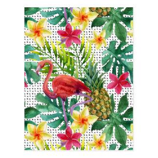 Carte Postale Aquarelle tropicale