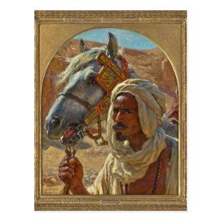 Carte Postale Arabe et son cheval par Dinet