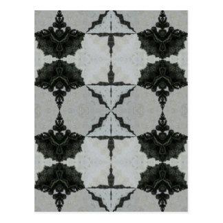 Carte Postale Araignée, noir et gris de loup de kaléidoscope