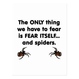 Carte Postale Araignées de la crainte elle-même