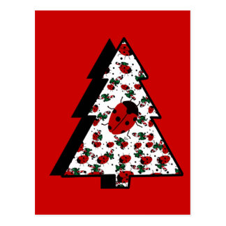 Carte Postale Arbre de coccinelle de Noël