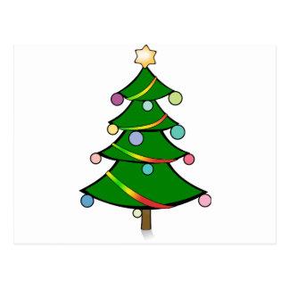 Carte Postale Arbre de Noël avec la guirlande de Rasta