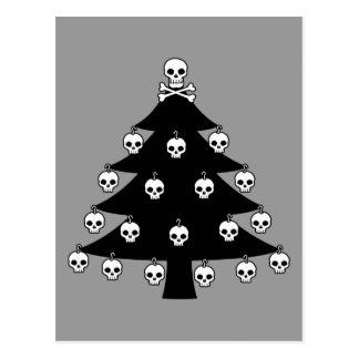 Carte Postale Arbre de Noël de crâne