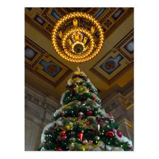 Carte Postale Arbre de Noël de station des syndicats Kansas