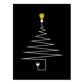 Carte Postale Arbre de Noël électrique
