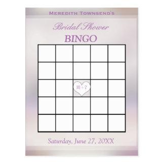 Carte Postale Arbre du jeu | de bingo-test de la vie