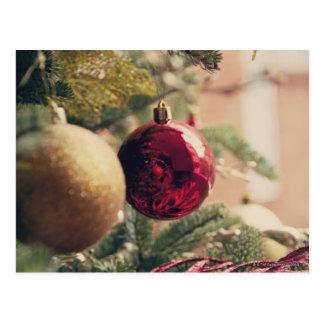 Carte Postale Arbre et décoration de Noël