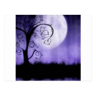 Carte Postale Arbre et lune gothiques