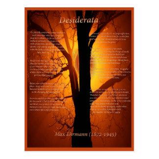 Carte Postale Arbre orange