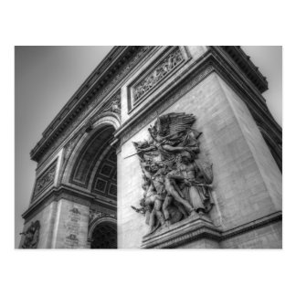 Carte Postale Arc de Triomphe b/w
