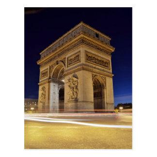 Carte Postale Arc de Triomphe De l'Étoile dans le tir de nuit de