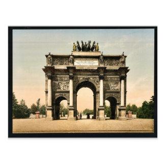 Carte Postale Arc de Triomphe, du Carrousel, vinta de Paris,