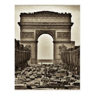 Carte Postale Arc de Triomphe, Paris, France