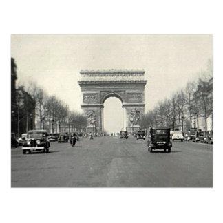 Carte Postale Arc de Triomphe vintage France