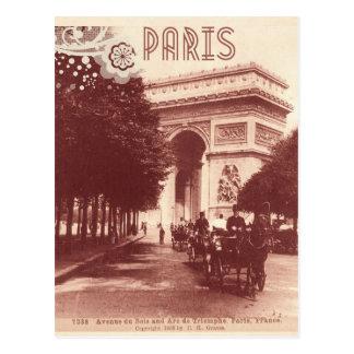 Carte Postale Arc de Triomphe vintage, Paris, 1903