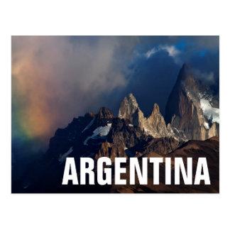 Carte Postale Arc-en-ciel dans les Andes