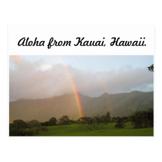 Carte Postale arc-en-ciel de Kauai
