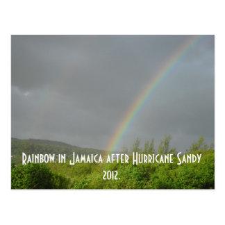 Carte Postale Arc-en-ciel Jamaïque après ouragan Sandy 2012
