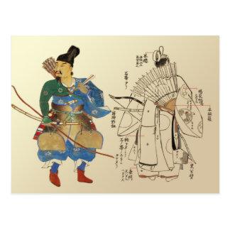 Carte Postale Archers de guerrier avec des pièces d'uniforme