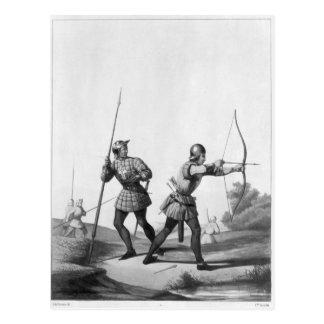 Carte Postale Archers libres pendant le règne de Louis XI