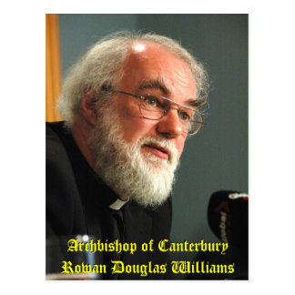 Carte Postale Archevêque de Cantorbéry Rowan Williams