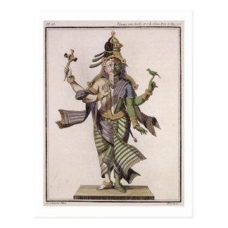 Carte Postale Ardhanarishvara, de 'voyage Indes aux. et d'une La