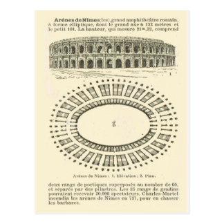 Carte Postale Arène De Nîmes, romain