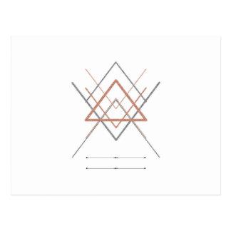 Carte Postale Argent rose d'or de triangles