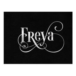 Carte Postale Argent tourbillonnant personnalisé de Freya de