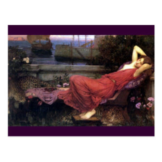 Carte Postale Ariadne reposant sur un divan