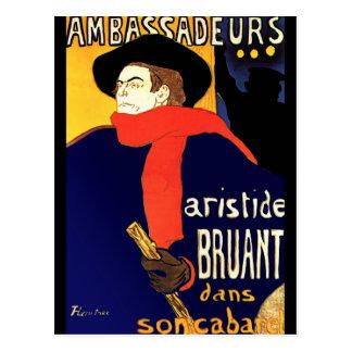 Carte postale : Aristide Bruant par
