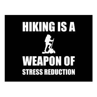 Carte Postale Arme du randonnée de réduction du stress