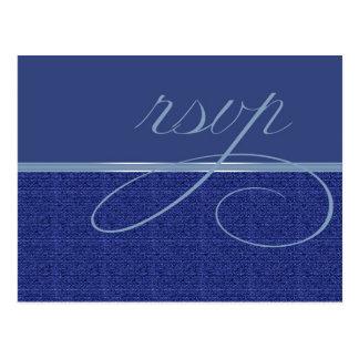 Carte Postale Armure moderne RSVP bleu