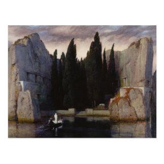 Carte Postale Arnold Böcklin - l'île des morts