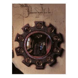 Carte Postale Arnolfini et portrait d'épouse (détail)