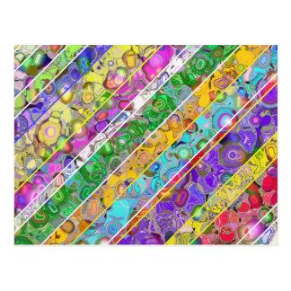 Carte Postale Arrière - plan abstrait avec les rayures colorées