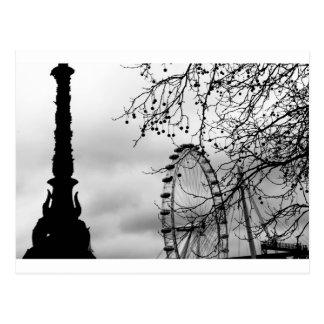 Carte Postale Arrière - plan d'art d'oeil de Londres