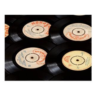 Carte Postale Arrière - plan de disques vinyle