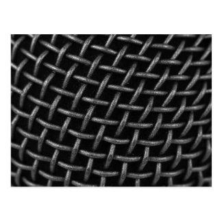 Carte Postale Arrière - plan de grille de microphone