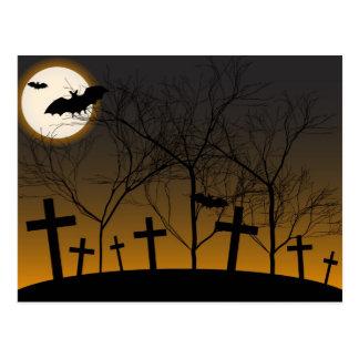 Carte Postale Arrière - plan de Halloween