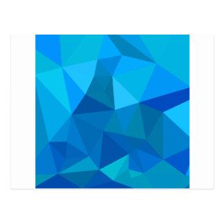 Carte Postale Arrière - plan de polygone d'abrégé sur bleu de