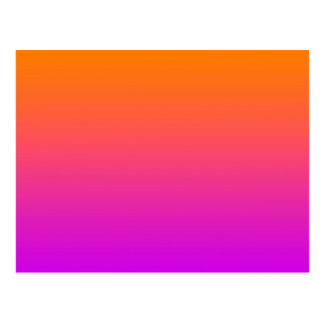 Carte Postale arrière - plan inférieur pourpre supérieur orange