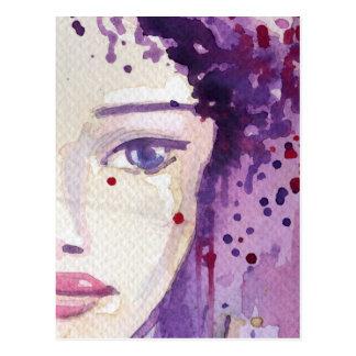 Carte Postale Arrière - plan peint d'aquarelle