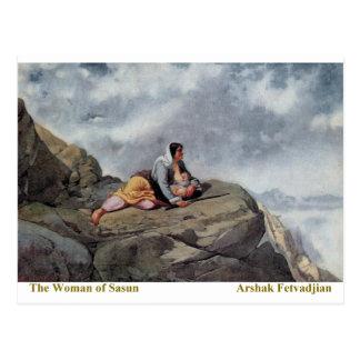 Carte Postale Arshak Fetvadjian, femme de Sasun