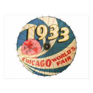 Carte Postale Art 1933 de souvenir de l'Exposition universelle