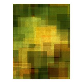 Carte Postale art 2 géométriques abstraits colorés vintages