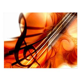 Carte Postale Art abstrait de violon